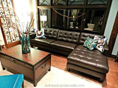Decorating around a Brown Couch | We special ordered this sectional.