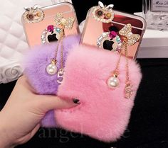 Cheap case for iphone, Buy Quality phone cases directly from China case for Suppliers: Luxury Bling Bowknot tassel Warm Soft Beaver Rabbit Fur Hair phone cases for iphone X protective phone back Fluffy Phone Cases, Girly Phone Cases, Diy Phone Case, Iphone Phone Cases, Friends Phone Case, Accessoires Iphone, Iphone Accessories, Coque Iphone, Ipad