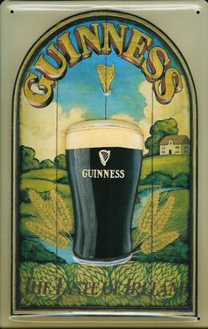 Buy the Guinness Taste of Ireland Vintage Metal Sign for your Pub or Home Bar Pub Signs, Beer Signs, Vintage Signs, Vintage Posters, Vintage Photos, Irish Pub Decor, Irish Bar, Irish Whiskey, Craft Beer Labels