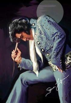 Elvis art by Sara Lynn Samders--SO perfect! Elvis Presley Born, Elvis Presley Pictures, Graceland Elvis, Lisa Marie Presley, Priscilla Presley, Rock And Roll, Elvis Memorabilia, James Dean, Elvis In Concert