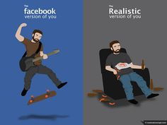 the Facebook You vs Real You