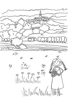 Paisaje Rural Dibujalia Dibujos Para Colorear Elementos Y Art Color Sheet Music