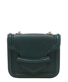 Alexander McQueen green leather 'Heroine' mini satchel