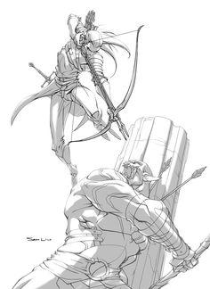 Awesome Middle Earth Art - Legolas vs Azog — GeekTyrant