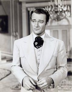 """John Wayne en """"Dama por una Noche"""" (Lady for a Night), 1942 Olivia De Havilland, Classic Movie Stars, Classic Tv, Vintage Hollywood, Classic Hollywood, John Wayne Movies, Western Film, Western Movies, Maureen O'hara"""