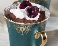 [ Mug cake au chocolat Ingrédients Chocolate Mousse Recipe, Chocolate Pudding, Chocolate Recipes, Mug Cake Au Chocolat, Dessert Express, Chocolate Heaven, Gluten Free Cooking, Yummy Cakes, Favorite Recipes