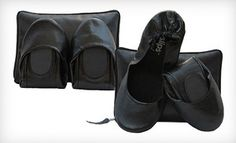 Currently on @Groupon - $15 for Matte Black @CitySlips Foldable Flats in S–XL with a Matching Carrying Pouch ($33.95 List Price). Free Shipping. Groupon deal price: $15.00