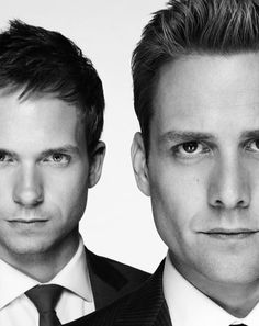 Patrick J. Adams and Gabriel Macht (Suits)