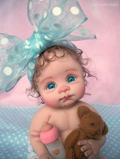 OOAK baby by Joni Inlow ✋More Pins Like This At FOSTERGINGER @ Pinterest☝✋