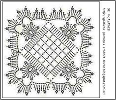PATRONES - CROCHET - GANCHILLO - GRAFICOS: CROCHET = GRANNY TEJIDOS A GANCHILLO SU PATRON