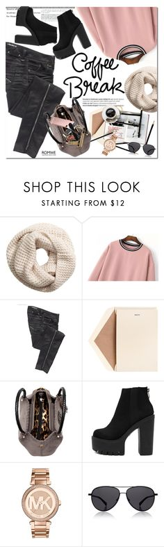 """""""Romwe"""" by oshint ❤ liked on Polyvore featuring Balmain, H&M, Parasuco, Dempsey & Carroll, Archie Grand, Michael Kors, The Row and romwe"""