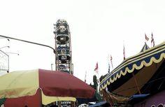 Ferris wheel in DUGDERAN.  Tradition of Semarang city, Indonesia.