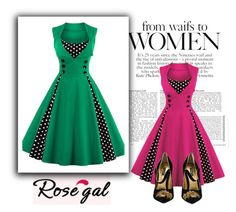 """rosegal"" by muamera20 ❤ liked on Polyvore featuring Dolce&Gabbana"
