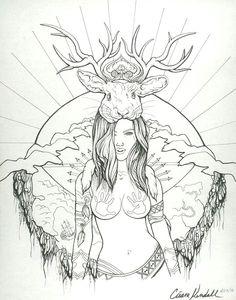 Art by tattoo artist Cieara Elizabeth Kendall.