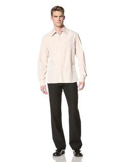 71% OFF MARNI Men\'s Concealed Placket Shirt (Camel)