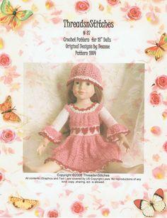 18 Inch Dolls Crochet Pattern 87 von ThreadsnStitchesUSA auf Etsy