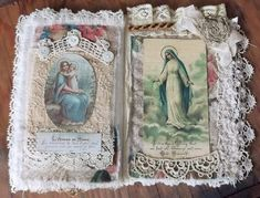 Mary and Jesus Fabric Collage Book, Pages 5&6   by therusticvictorian