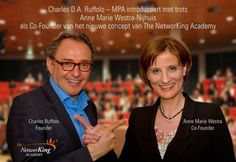 """Today's very exciting news, I'm very proud off!!  """"Founder Charles Ruffolo, MPA proudly announces Anne Marie Westra-Nijhuis as the Co-Founder of the new concept of #TheNetworKingAcademy""""    Read more about Charles and I started introducing The NetworKing Academy's new concept!!"""