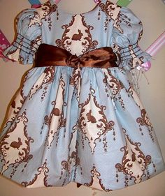 Girls Easter Dress Blue Dress
