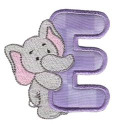 Embroidery | Free Machine Embroidery Designs | Bunnycup Embroidery | Animal Alphabet Applique- Could adapt idea for Baby Shower Cake.