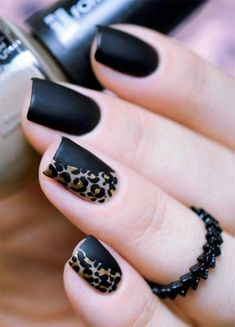Half and half Nails Art