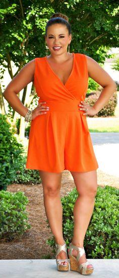 Perfectly Priscilla Boutique - Orange You Beautiful Romper, $42.00 (http://www.perfectlypriscilla.com/orange-you-beautiful-romper/)