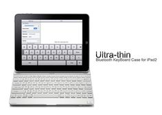 A perfect companion for your beloved iPad2, this Bluetooth Keyboard Case has an ultra-thin, eye-catching design that gives your device protection, added functionality and style.