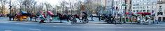 Central Park Horse Carriage Station Panorama Urban Images March 2015 New York - New York January 2015 Street Photography April 2013