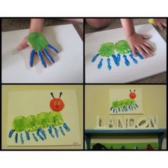 20 bug crafts to make Kinder Basteln Handabdruck Raupe Nimmersatt The post 20 bug crafts to make appeared first on Kinder ideen. Kids Crafts, Bug Crafts, Projects For Kids, Crafts To Make, Craft Projects, Arts And Crafts, Craft Kids, Project Ideas, Santa Crafts