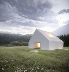 House Em Leira - Aires Mateus by Riccardo Desiderò, via Behance: