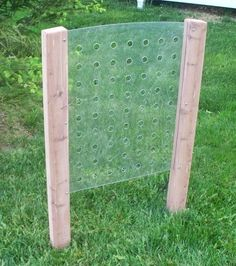Children's outdoor weaving frame!  We can make this!