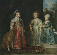 1634 Children of Charles I (Charles, Mary & James) - Van Dyck