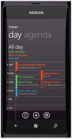 Day agenda nokia