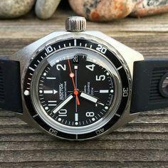 Vostok Amphybia SE mod. Cool Watches, Watches For Men, Men's Watches, Vostok Watch, Patek Philippe, Seiko, Luxury Watches, Omega Watch, Rolex