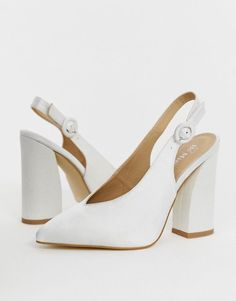 Buy Be Mine Bridal Noori ivory satin sling back heeled shoes at ASOS. With free delivery and return options (Ts&Cs apply), online shopping has never been so easy. Get the latest trends with ASOS now. Lace Up Heels, Strappy Heels, Pumps Heels, High Heels, Minions, Red Wedding Shoes, Platform Block Heels, Bridal Heels, Giuseppe Zanotti Heels