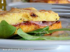 Recette Croque polenta à la mozzarella, pancetta et sauce arrabiata, par Didine1512 - Ptitchef. Quite a hefty snack!
