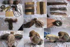 Ptáček z vlny   creative-world