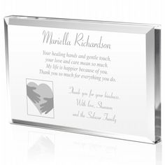 Heartfelt Thank You Plaque Unique Gifts Express Graude To A Well Deserving Doctor Or Nurse By Saying In The Most Exquisite Way