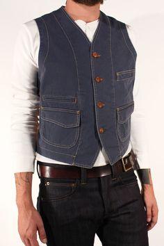 Scarti-Lab Cotton Herringbone Vest  403-SM980