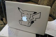 Or Pikachu it. | 31 Cool Things To Do With The Apple Logo On Your Mac - for if I ever get a Mac
