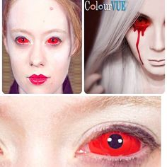 Cyclops Sclera lenses Get them at www.ohmykitty.com #cosplayers #ohmykittydotcom #contacts #circlelenses #popular #cosplay #eyes #makeup #halloween #costumes Cat Eye Contacts, Halloween Contacts, Halloween Face Makeup, Halloween Looks, Halloween Ideas, Halloween Costumes, Vampire Look, Eye Contact Lenses, Circle Lenses