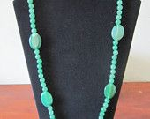 Large Green Bead Statement Necklace