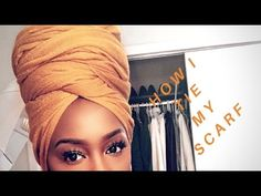 HOW I WRAP MY SCARF | Comment j'attache mon foulard - YouTube