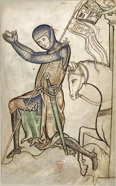 What were the Crusades? The Crusades were a series of military campaigns during the time of Medieval England against the Muslims of the Middle East. Medieval Knight, Medieval Art, Medieval Manuscript, Illuminated Manuscript, Framed Art Prints, Painting Prints, Crusader Knight, Art Roman, Culture Art