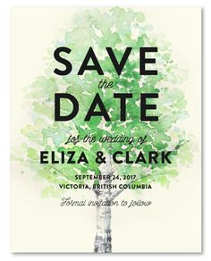 BC Birch cards offer a natural design with a beautiful tree to match your outdoor wedding.