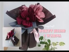Bisnis Ideas, Boquette Flowers, Scarf Packaging, Chocolate Flowers Bouquet, Flower Bouquet Diy, Making Scarves, Making A Bouquet, Hijab Tutorial, Diy Doll