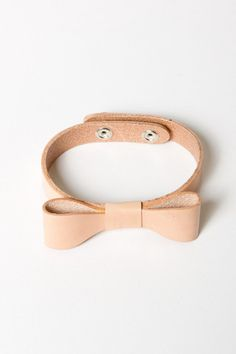 Leather Bow Bracelet | CUTE!