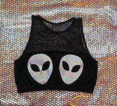 Alien pastie Halter crop top