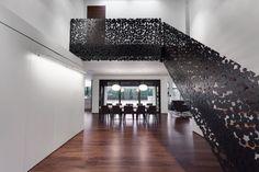 treppen design - schwarz aufwendige details holzstufen