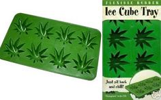 Stonerware Marijuana Leaf Ice Cube Tray
